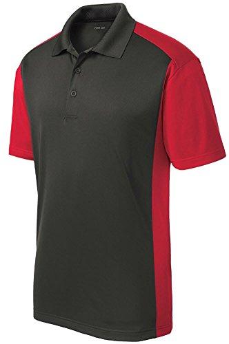 oisture Wicking Micropique Polo Shirt-Red-XL ()