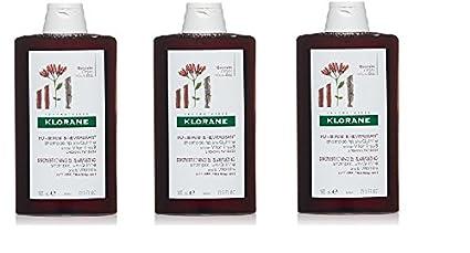 3 Klorane Champú Alla chinina y Vitamina B fortificante 400 ml para la Cuidado de Cabello