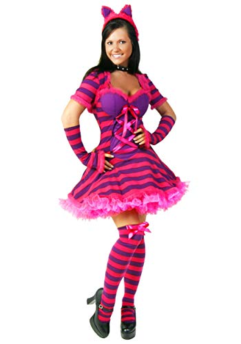 (Fun Costumes Wonderland Women's Sassy Storybook Cat Costume Small/Medium Pink)