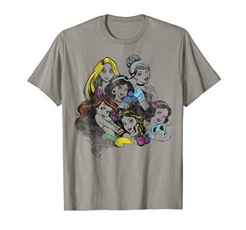 Disney Princess Group Bold Color Pop Graphic T-Shirt -