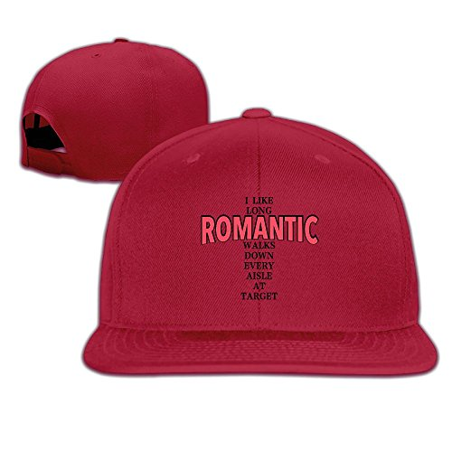 HAILIN TATTOO I Like Long Romantic Walks Down Every Aisle At Target Fashion Solid Flat Bill Hip Hop Snapback Baseball Cap