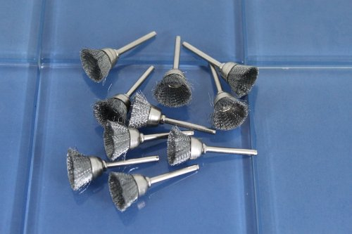 """TEMO 10 pc 442 Carbon Steel Wire Brushes ½"""" cup Dremel Rotary Tool 5A2"""