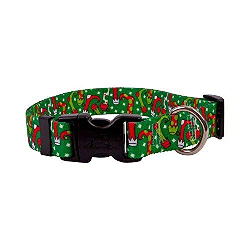 """Christmas Stockings Dog Collar - Size Large 18"""" to 28"""" Long - Made In The USA"""