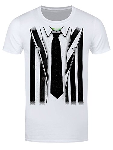 Beetlejuice Costume White T-shirt - S to XXL for Adults