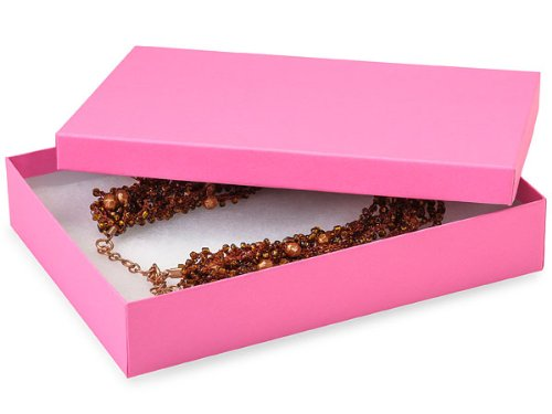 7x5x1-1/4'' Calypso Pink Eco Tone Recycled Jewelry Boxes (Unit Pack - 100)