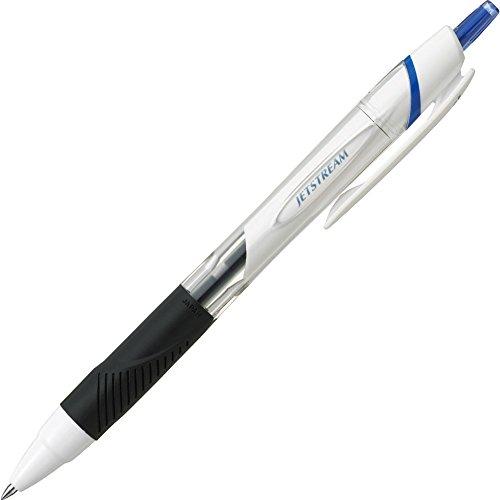 Uni Jetstream Standard Ballpoint Pen - 0.5 mm - Blue Ink - White Body