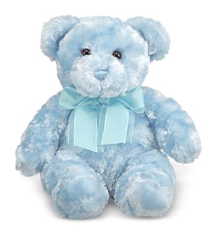 Melissa & Doug Blueberry Teddy Bear Stuffed Animal - Blue - Blue Plush Bear