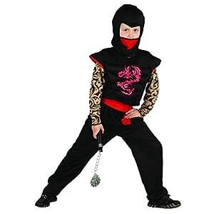 Generique - Disfraz Ninja Rojo y Negro niño L 10-12 años (130-140 ...