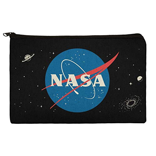 (NASA Official Meatball Logo Makeup Cosmetic Bag Organizer Pouch )