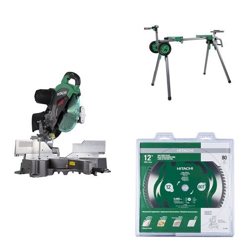 Hitachi C12RSH2 Miter Saw with Stand and Blade