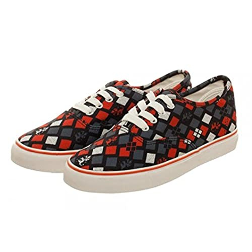 2e227cd35c0 Harley Quinn Lace-Up Unisex Sneakers - Mens Sz 7 Womens Sz 8.5 well ...
