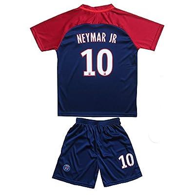 #10 Neymar Jr Paris Saint Germain PSG Home Blue Kids/Youth/Boys/Girls Soccer Jersey & Shorts Set