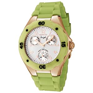 Invicta Women's 0713 Angel Collection Green Polyurethane Watch