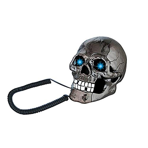 JINSEY New Style Creative Funny LED Flash Eyes Skull Skeleton Landline Table... by JINSEY