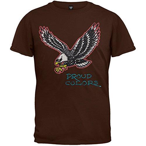 - Ed Hardy - Eagle Proud Colors Youth T-Shirt - Youth Medium