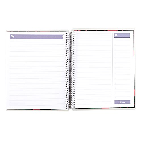 Erin Condren Lined 7″ x 9″ Spiral Notebook, Metallic Silver Dream, Silver (AMA-NBM 1802)