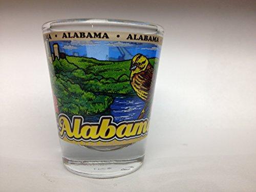 Alabama State Wraparound Shot - Alabama Glass