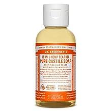 Dr. Bronner's Magic Soap Organic Tea Tree Oil Castile Soap, 59-Milliliter
