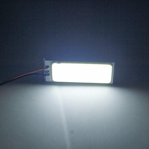 36LED FEELDO 10pcs White Car COB T10 BA9S Festoon Adapters Dome Panel Light 16//24//36//48LED Car LED Reading Light