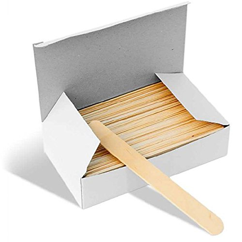 Large Wooden Waxing Spatulas 100/pack | Better Waxing | Disposable WX-LWS