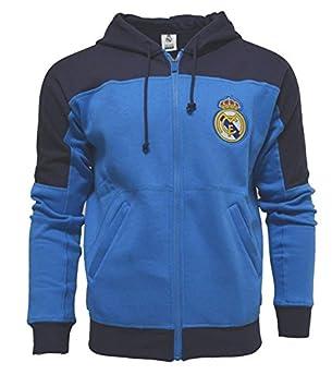 Real Madrid con cremallera frontal chaqueta de forro polar sudadera con  capucha sudadera juventud X Large  Amazon.es  Deportes y aire libre 8a18e2f5eddff