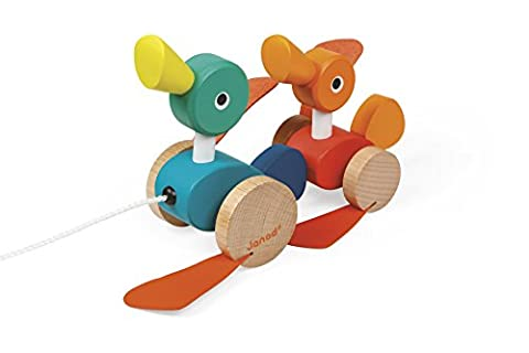 Janod Duck Family Pull Along Toy