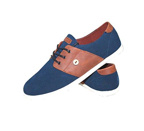 Faguo - Zapatillas de deporte de Material Sintético para hombre prussian-blue-mehagany-cypress23-f1650