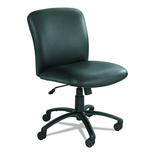Safco Products Uber Big and Tall Mid Back Chair 3491BV, Black Vinyl, Rated for 24/7 Use, Holds up to 500 lbs. (Optional arms Sold Separately)]()