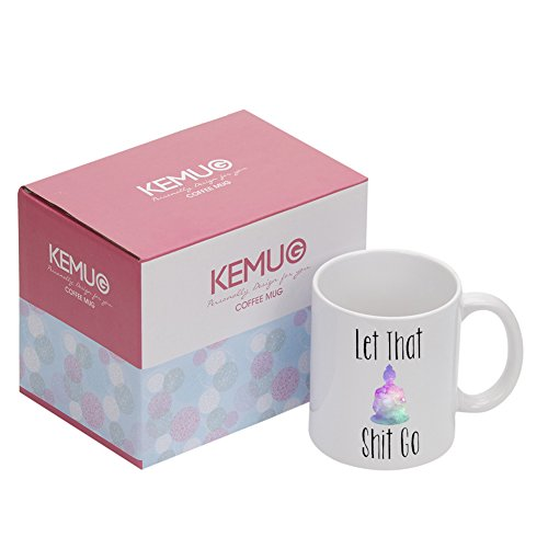 keep Calm Buddha Mug Yoga Coffee Mug Tea Cups Porcelain White