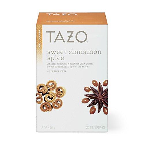 Tazo Sweet Cinnamon Spice Herbal Tea Filterbags, 20 Count (Pack of 6)