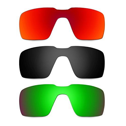 bbeeb2d1aca Barato Hkuco Plus Mens Replacement Lenses For Oakley Probation Red Black Emerald  Green Sunglasses