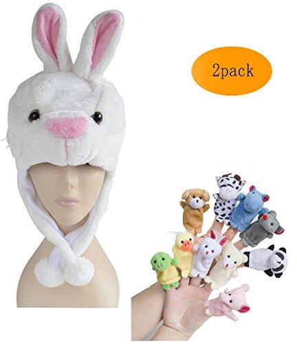 Pulam (Childs White Rabbit Hat)