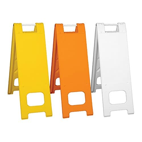Blank Narrowcade A-frame Portable Sign Stand, Color=White supplier