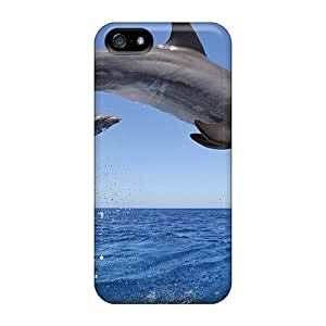 New Snap-on MichelleCumbers Skin Cases Covers Compatible With Iphone 5/5s- Common Bottlenose Dolphins