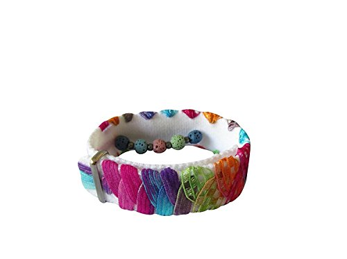 "Essential Oil Aromatherapy Bracelet for Anxiety, Stress, Insomnia, Nausea (Fiesta) (small 5.5"") from Acupressure Bracelets"