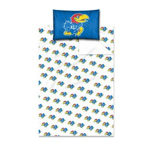 The Northwest Company Officially Licensed NCAA Kansas Jayhawks Twin Sheet Set