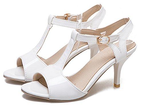 Kitten Blanc Bout heel Sexy Cheville Femme Sandales Ouvert Aisun nW8T14x