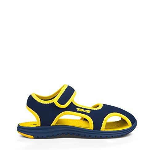 Teva Tidepool CT Water Sandal (Toddler/Little Kid), Navy/Yellow, 11 M US Little Kid