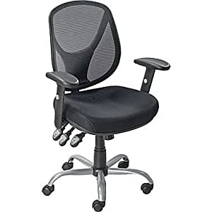 Staples Acadia Ergonomic Mesh Mid Back Office Chair With Arms Bl