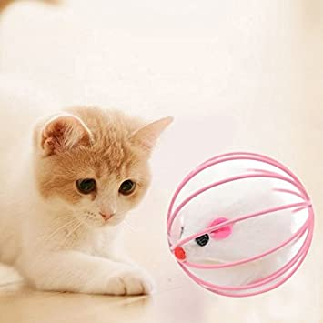 Jdon-pet, Juguetes divertidos Ratón falso en el gato de la jaula Jugando el