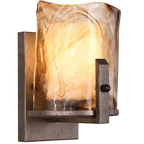 Iron Art Wall Lamp/Wall-Mount Lamp/Wall Hanging Lamp Bathroom Mirror Front Wall Light Retro Bedroom Lamp Tv Background Bracket Light, BOSS LV ()