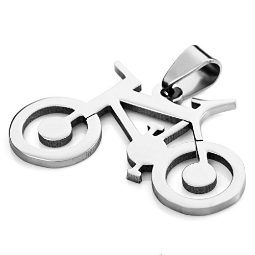 INBLUE Stainless Pendant Necklace Bicycle