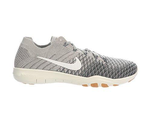 Nike Womens Free TR Flyknit 2 Pale Grey/Light Charcoal/Vintage Green Nylon Running Shoes 9 B US