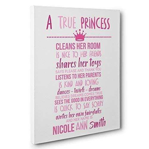 A True Princess Canvas Wall Art