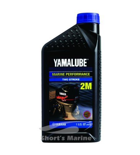 12 Yamalube 2M Marine 2-Stroke Oil NMMA TC-W3 Quart; LUB2STRKM112 Made by Yamaha (Yamaha 2 Stroke)