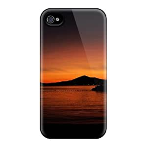 Protective Tpu Case With Fashion Design For Iphone 4/4s (sunset)