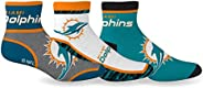 NFL Miami Dolphins 3-Pack Ankle Socks