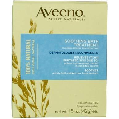 Aveeno Soothing Bath Treatment (8 Single Use Bath Packets)