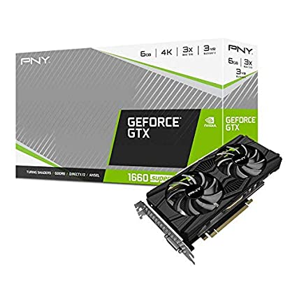 PNY GeForce GTX 1660 Super 6GB Tarjeta gráfica con Doble Ventilador