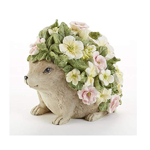 Delton Products Resin 4.75 inches x 6.5 inches Flower Hedgehog Home Decor -